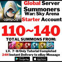 [Global] [Instant] Buy 2 Get 3 110-140 Summons Summoners War Starter Account