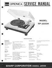 Sharp Optonica Service Manual für RP- 3500 H