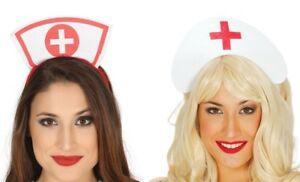 Nurse Hat A&E Doctors & Nurses Fancy Dress Costume Accessory Headband Halloween