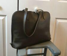 """**Jack Georges** OLIVE**Leather 15"""" Laptop Tote Bag Travel Carry On Shoulder Bag"""