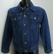***X-CAPE GIUBBINO DENIM JEANS Jacket TG.S Bottoni logati in COTONE 100% BLU