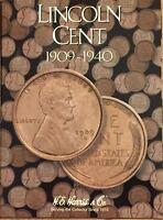 1909 - 1940 LINCOLN CENT COIN FOLDER  H. E. HARRIS / WHITMAN  (BRAND NEW)