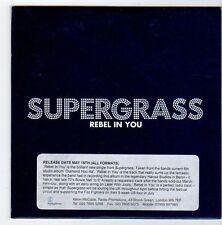 (EZ698) Supergrass, Rebel In You - 2008 DJ CD