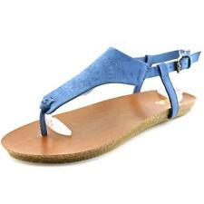 Sandalias y chanclas de mujer planos azules Talla 37.5