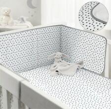 BabiesRus Cot Bumper & Cot coverlet Bedding set Grey
