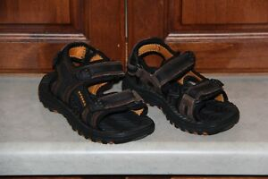 Toddler Boy Sperry Topsider Brown Leather Open Toe Sandal size 10w