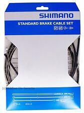 Shimano Bremszugset Y80098022 für Rennrad  &MTB, Züge,Hülle (schwarz),Kleinteile