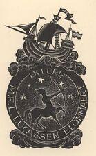 Ex Libris Dirk Govert van Luijn : Opus 50b, M.E.L. Lucassen Blommaert