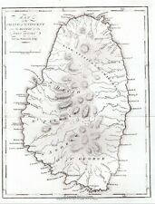 Map of St Vincent and the Grenadines Antique 1794