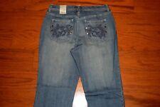 NWT Chico's PLATINUM Denim 'RADIANT Jean' STRAIGHT Leg Blue Jeans -CHICOs Size 1