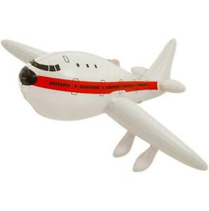 Inflatable Airplane White Plane Blow Up Jet Inflate Toy 50cm Bowing Party Props
