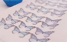 Blue Butterfly Cupcake Topper Monarch 30pc Navy Gender Reveal Boy Mermaid Man