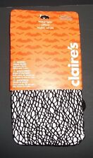 Halloween Footed Tights  BLACK  FISHNET    Claire's  SIZE:  M/L ** NEW**