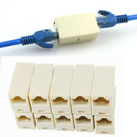 10PCS! Ethernet Network Cable RJ45 Splitter Plug Adapter ConnectorHOT1
