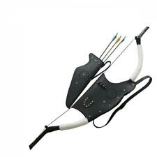 Shoulder Back Quiver Bow Holder Case Traditional Archery Quiver Set Recurve Bow