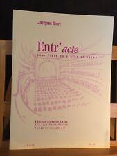Jacques Ibert Entr'acte pour flûte ou violon et harpe partition Leduc
