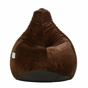 Luxe Fur XXXL Bean Bag Cover Without Beans (Brown) Luxaries homes