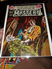 BERNIE WRIGHTSON SIGNED IN GOLD APPROVAL COVER HOUSE OF MYSTERY 207 ADLER COA :)