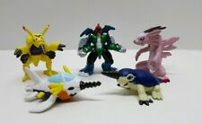 "Bandai 2000 Digimon Lot of (5) 2"" Mini Figures Magnadramon Digmon Paildramon"