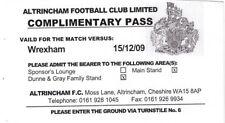 Ticket - Altrincham v Wrexham 15.12.09