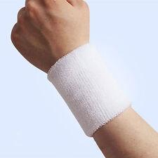 2 x Sports Basketball Unisex Cotton Sweat Band Sweatband Wristband Wrist Band
