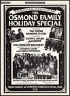 THE OSMOND FAMILY HOLIDAY SPECIAL__Original 1981 Trade AD / poster__Donny__Marie