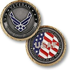 NEW U.S. Air Force Veteran Challenge Coin. 60582.