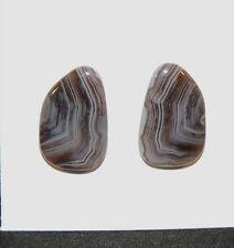 Botswana Agate Free Form 19x12mm Cabochon set of 2 (7107)