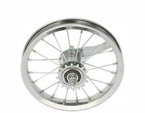 "BICYCLE REAR WHEEL for 12"" BIKES STEEL COASTER BRAKE BEACH CRUISER LOWRIDER BMX"