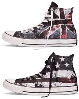 New Converse Chuck Taylor All Star UK Flag USA Flag Red Black White Men HI Shoes