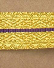 Braid RCMP Gold/Purple/Gold 25mm R737