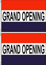 Grand Opening 3x5ft.Flags/Banner/Signs. Pack Of 2. Same Day Ship