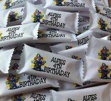 50 x Personalised Sweets Birthday Party Favours Choice of Design Any message