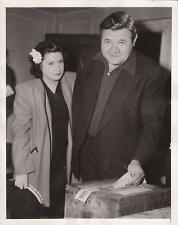 10/11/44 Babe Ruth Votes in New York - Original Acme News Photograph