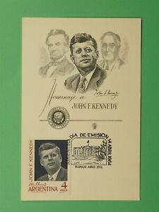 DR WHO 1964 ARGENTINA FDC JFK MAXIMUM CARD C244725
