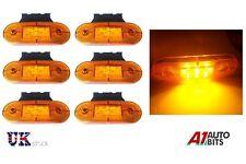 6x 12V LED amber orange side marker lights indicator trailer truck lorry van bus