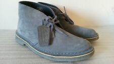 CLARKS ORIGINAL DESERT BOOTS WOMENS BLUE GREY SUEDE ANKLE BOOTS UK SIZE 4.5