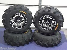 "POLARIS SPORTSMAN 500 25"" EXECUTIONER ATV TIRE & WHEEL KIT SS3 LIFETIME WARRANTY"