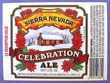 Sierra Nevada Brewing CELEBRATION ALE beer label CA 12oz  VAr. #3 CA Redemptn