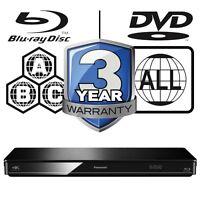 Panasonic3D Blu-ray Player Full MultiRegion DMP-BDT370EB 4K Upscaling DLNA