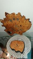lot of 2 Vtg Lacquered Tree Trunk, Burl Wood Wood Slab Wall Clocks,Frank Armich+
