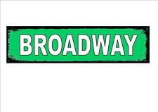 Broadway new york city usa street métal signe