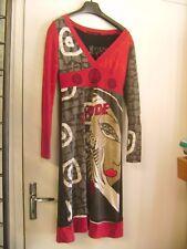 "Belle robe ""LULU H"" en maille brodée originale taille S"