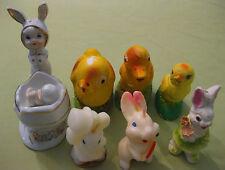 Bundle of 7 Vintage 1940s Easter Decorations