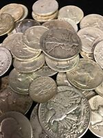 One Standard Ounce Of 90% Silver US Circulated Coins .... Dimes, Quarters, Half
