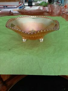Carnival Ware Glass Bowl 3 Footed
