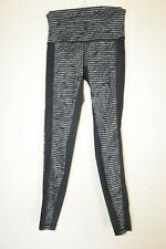 Lululemon Hi-Rise Tights Compression Leggings Gym Yoga Run Mesh Shiny Sexy