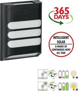 5 PACK Luxform Lighting Rana Intelligent Solar LED Wall Light 15 Lumen LF1114