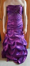 Jump Apparel Purple Prom Dress with Sequin Detail Tie Up Back Size 8 + Bag