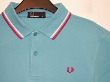 Fred Perry twin tipped polo shirt t-shirt M1200 medium M